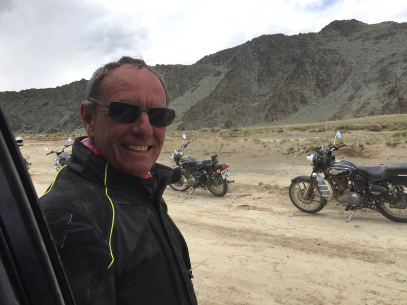 Gang of Australian bikers touring Asia