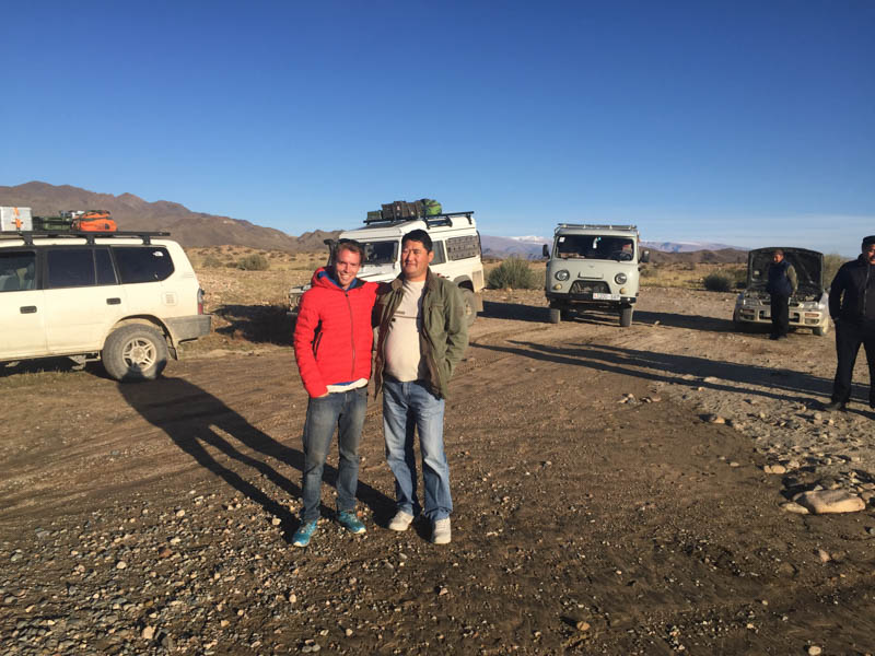 The only person I know in Mongolia happened to bump into us at a river crossing