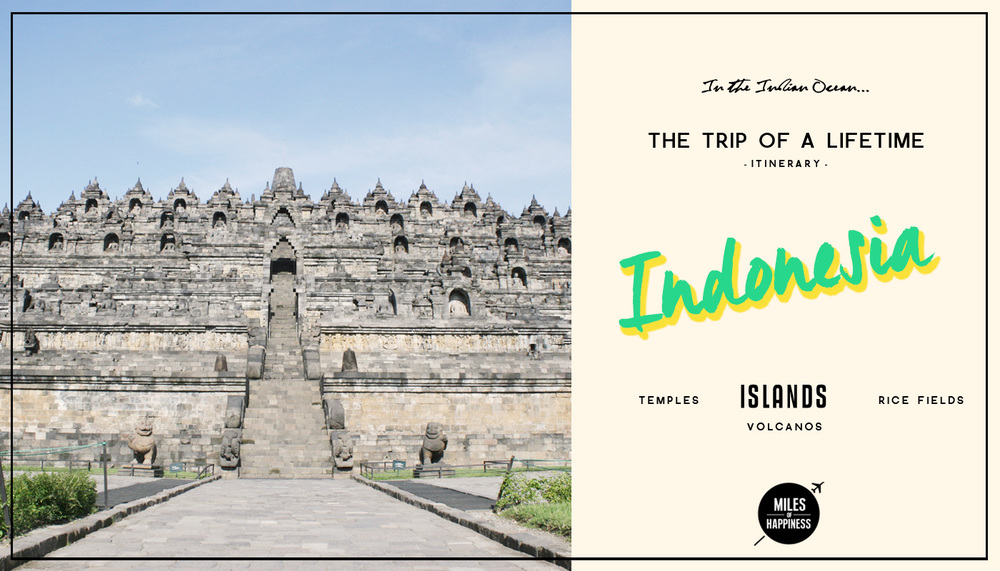 Itinerary of a trip in Indonesia