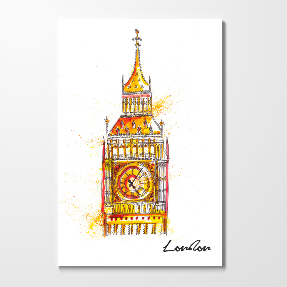 Miles of Happiness Postcard - Big Ben, London