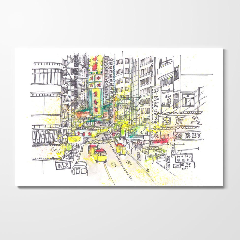 Miles of Happiness Postcard - Mong Kok, Hong Kong