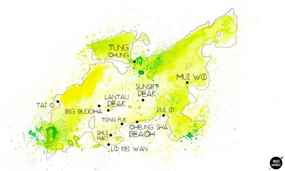 Hong Kong map : Lantau Island