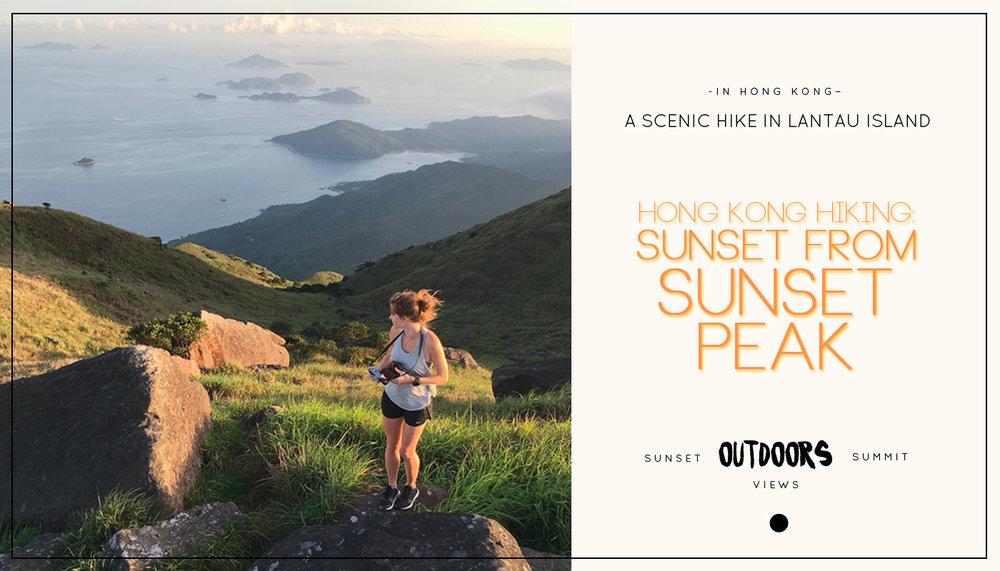 Hong Kong Hiking: Sunset from Sunset Peak
