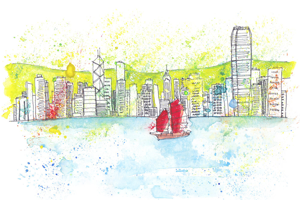 Hong Kong - Marie Pottiez Illustration