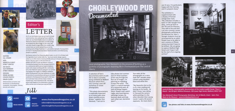 Chorleywood Magazine, March 2016, Pages 3, 42 - 43