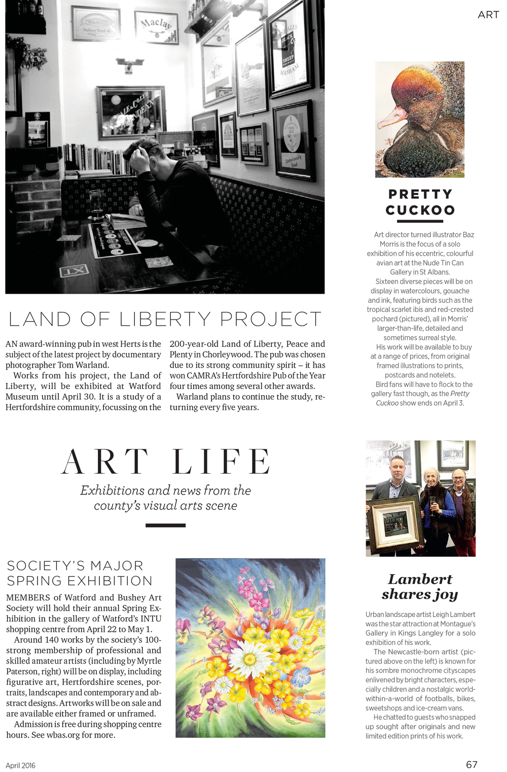 Hertfordshire Life Magazine, April 2016, Page 67