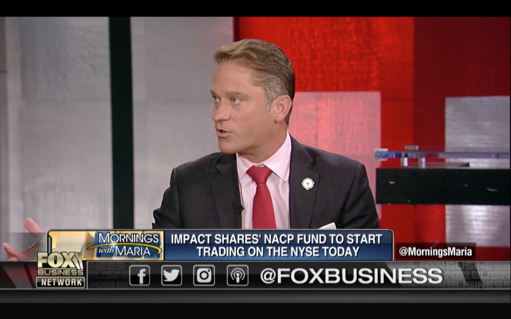 "Fox Business, Mornings with Maria, ""NAACP enters ETF market,"" 7/19/2018"