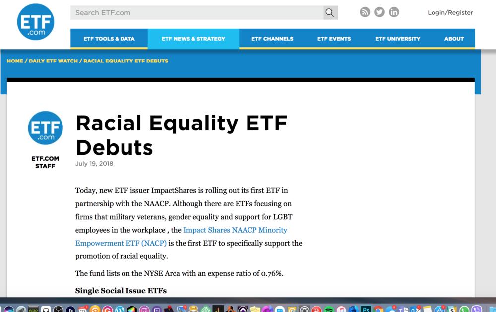 Impact Share on ETF.com