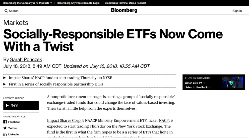 Impact Share on Bloomberg
