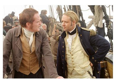 Paul Bettany and Russell Crowe in Master and Commander. Why do I like this movie so much? I don't know.