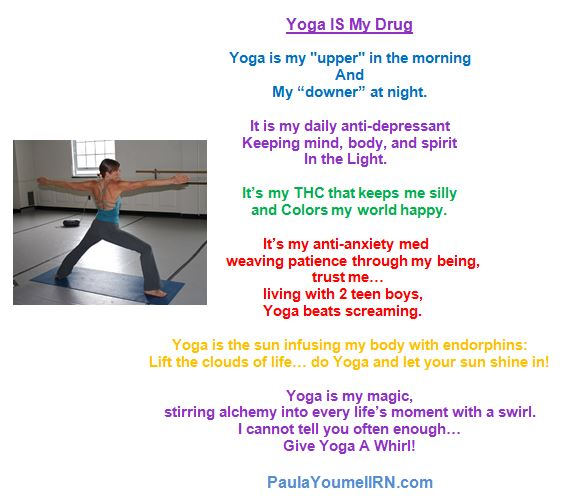 yoga my drug with my picture