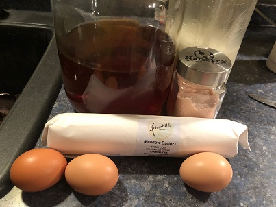 Vinegar, Milk, Salt, & Eggs
