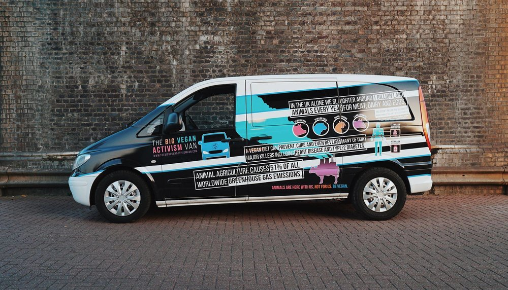 Surge 'Big Vegan Activism Van' Infographics Side