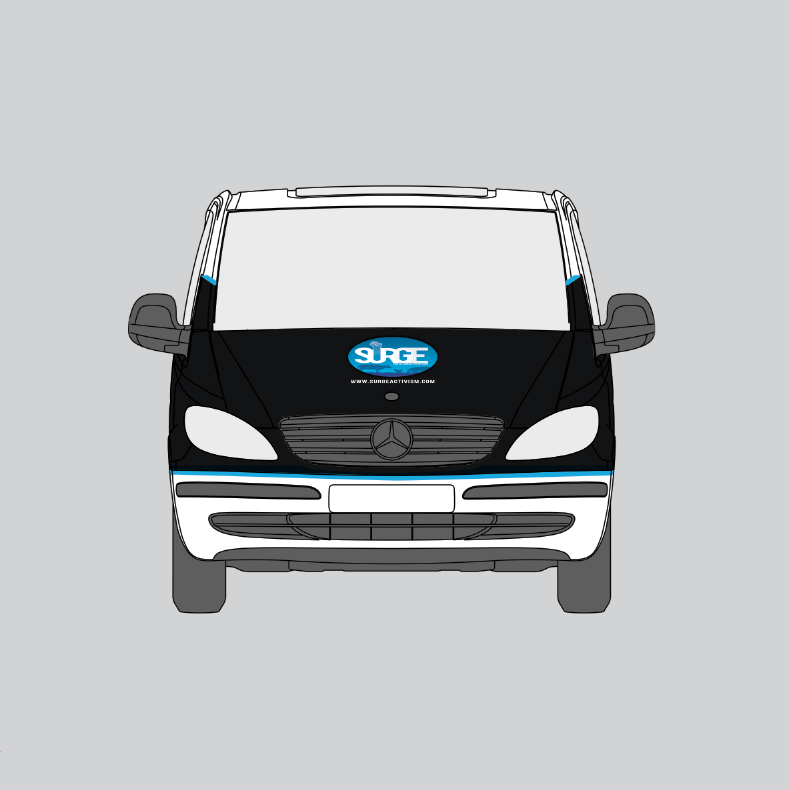 Surge Van Blueprints (Front View)