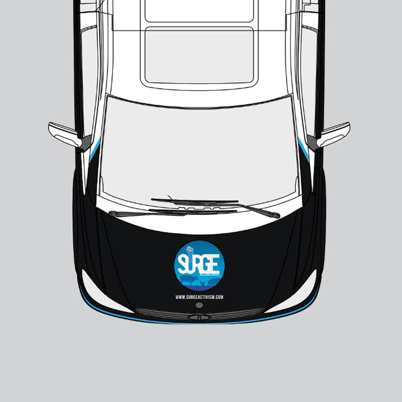 Surge Van Blueprints (Top View)