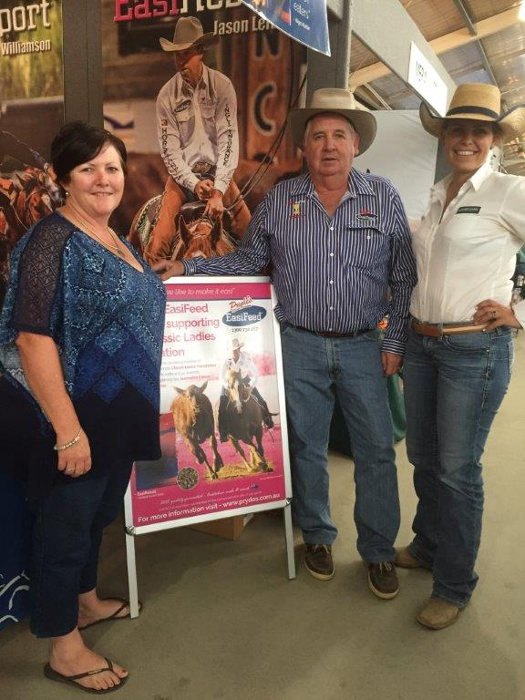 Classic Ladies Foundation raffle Winner Kylie Jordison, Gulargambone, NSW with Rod & Maree