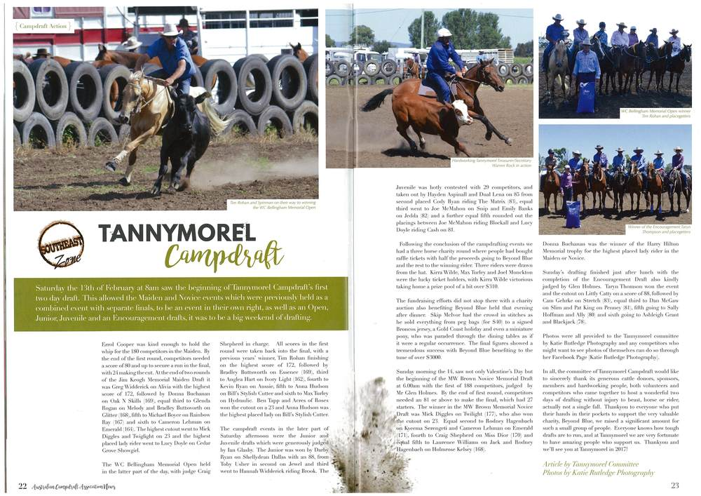 Tannymorel Campdraft 2016