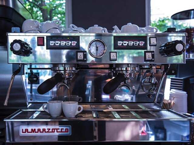 The best machine for the best coffee #lamarzocco #cafe #paris #auxartsetc