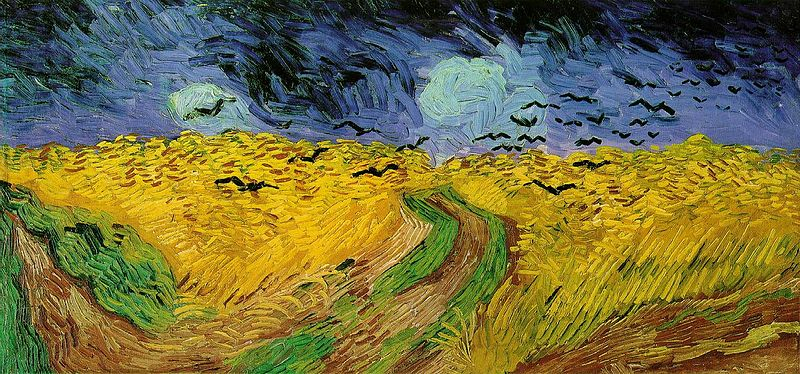 Wheatfield and Crows, Vincent Van Gogh
