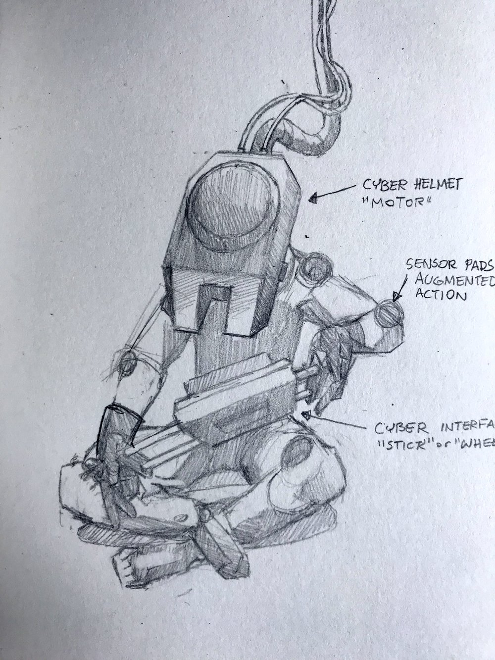 Crew Member preparing for cyber space voyage.