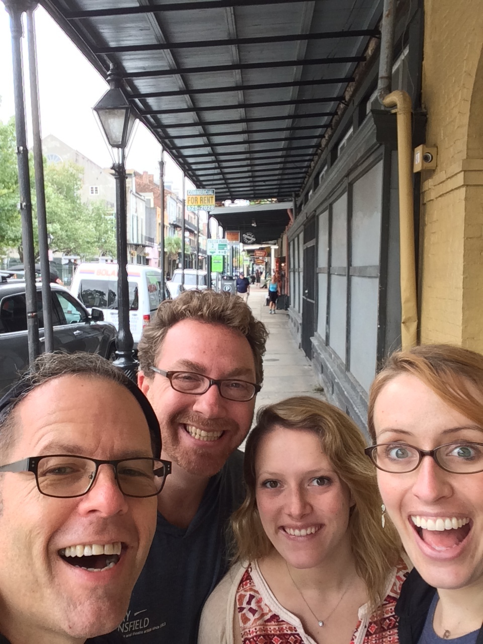 Greg Triggs, Rob Schiffmann, Megan Reilly, and Katie Hammond in Louisiana this past fall.