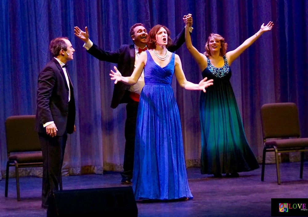 Annie Schiffmann onstage with Bway's NHM