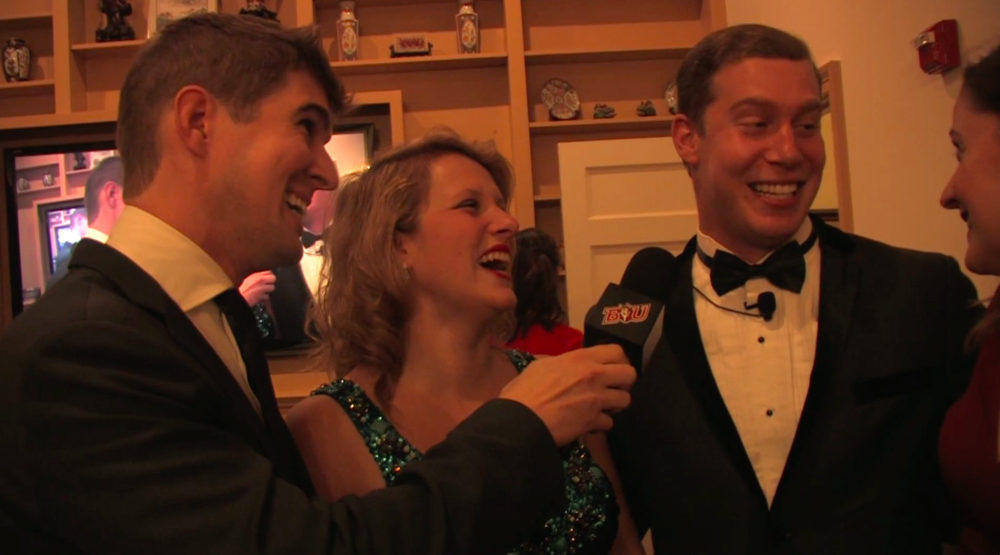 Marc T. Engberg, Megan Reilly, Matt Giroveanu, and Rachel Bouton on the Red Carpet before the show.