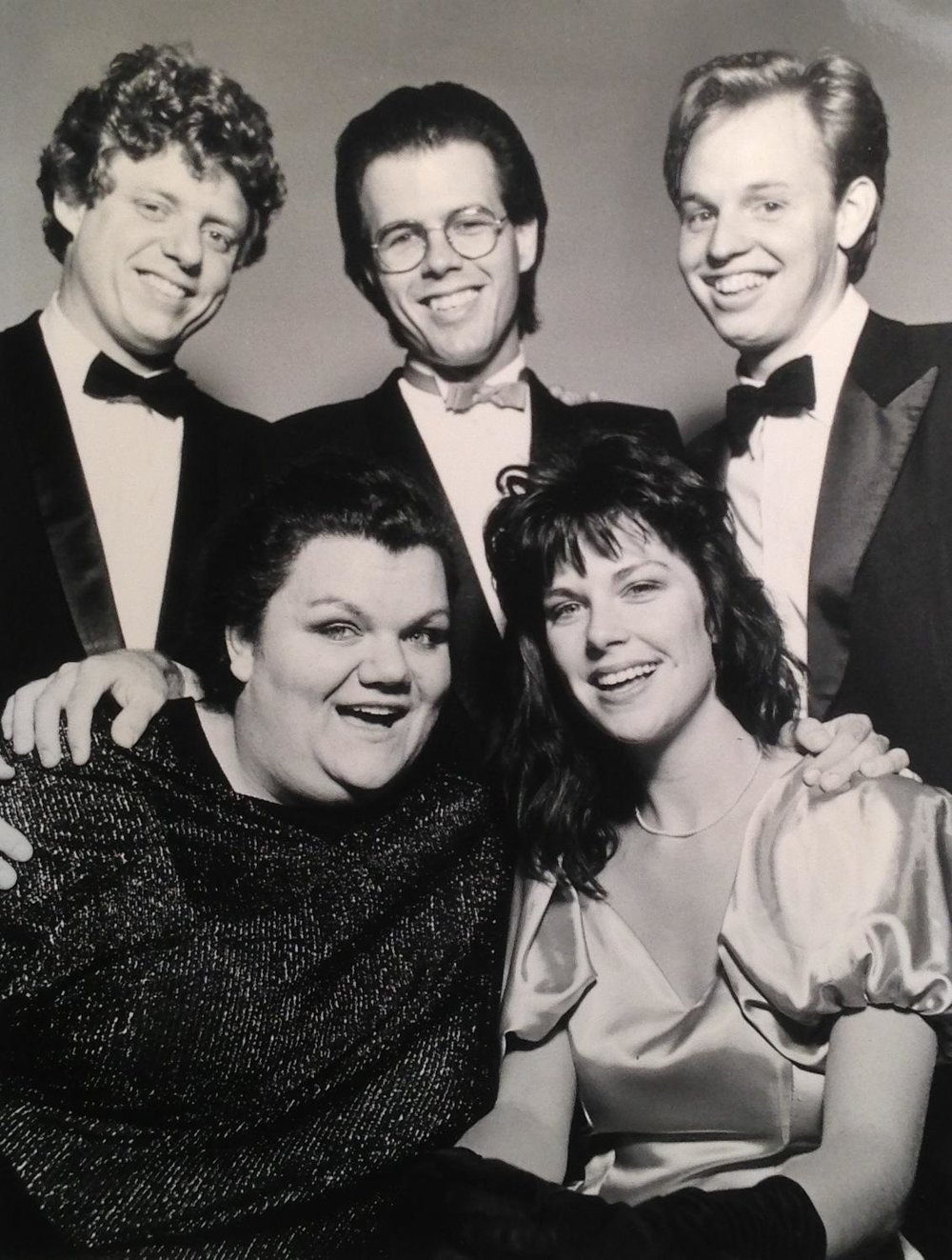 Greg Triggs and his fellow cast members in the early days of his career.