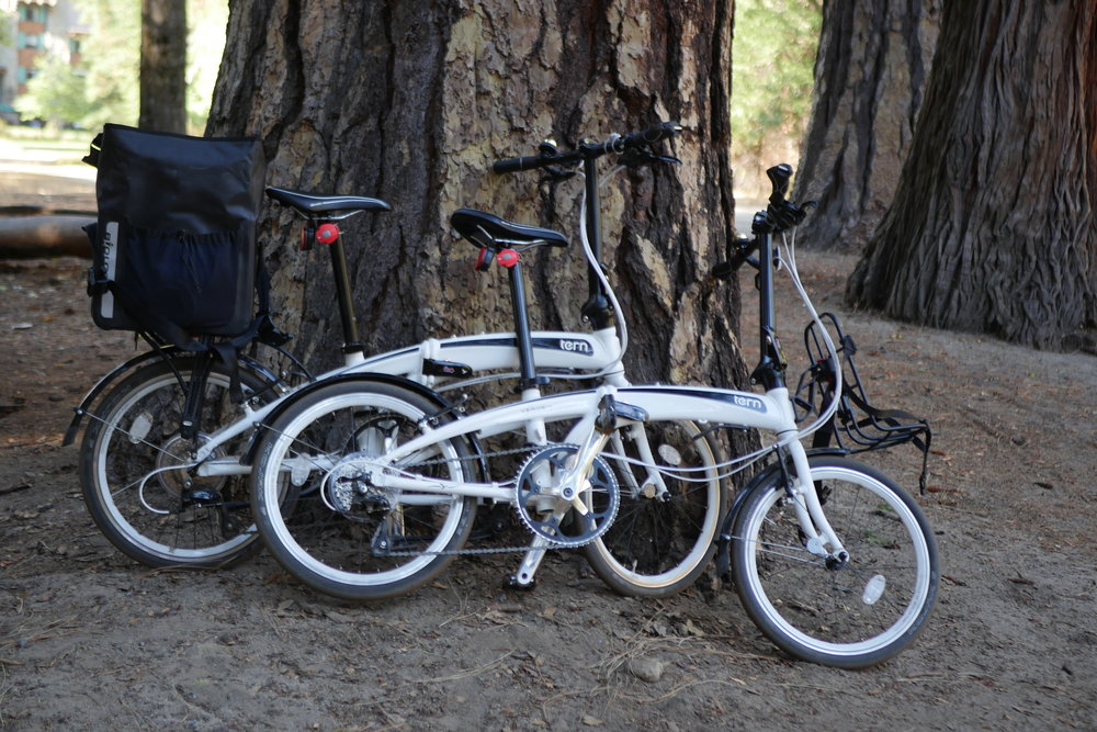 We had originally brought our TERN folding bikes along for a music festival, but we ended up using them to get around in the Yosemite valley instead