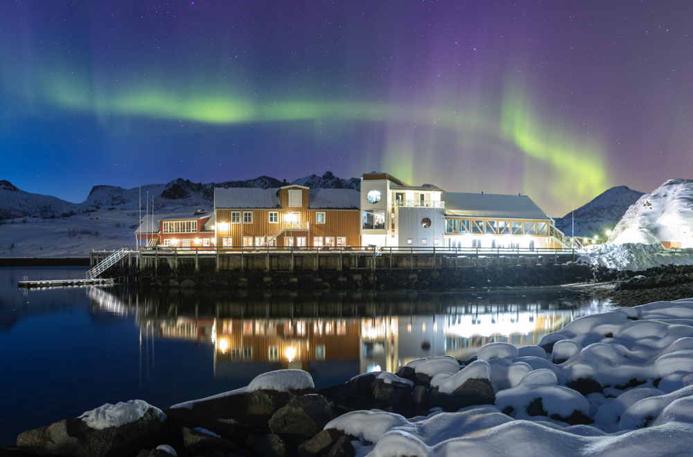 Lofoten Ski lodge is located in beautiful Kalle overlooking the fjord, in the heart of some of Lofotens finest backcountry terrain