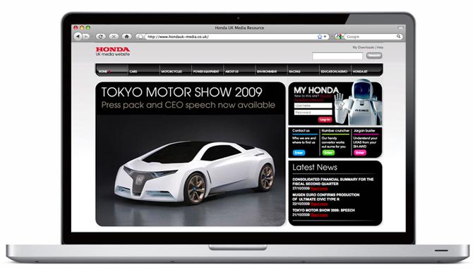 Honda Media Site By Jimi Rowe