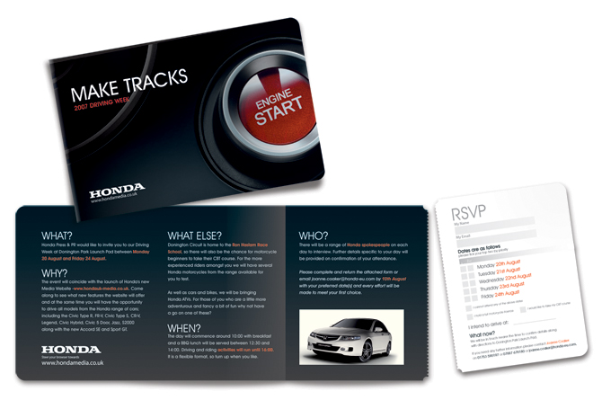 Honda Media Site Launch Invite By Jimi Rowe