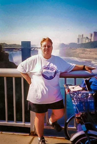 Me Crossing Rainbow Bridge Into Canada (Niagara Falls Behind Me)