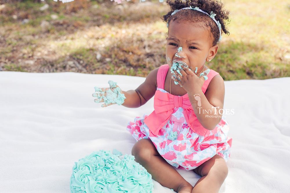 Cake Smash  |  Tiny Toes Photography, Nassau Bahamas