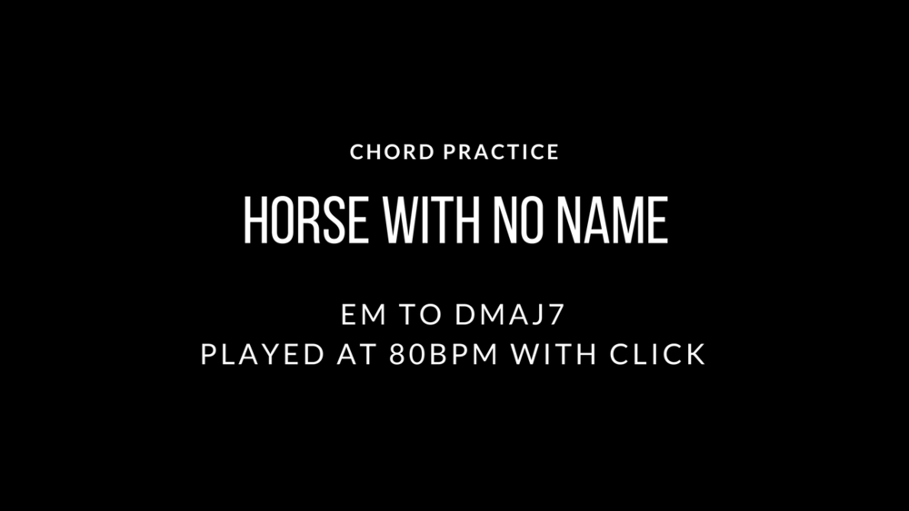 Horse With No Name — Karl Younger Guitar
