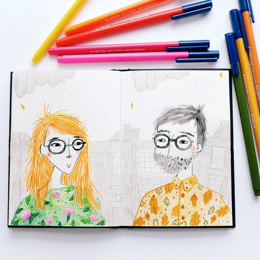 staedtler pen doodle by andsmile