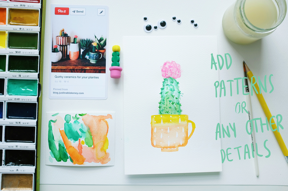 Add prickles, patterns or anything at all to make your painting really come together!