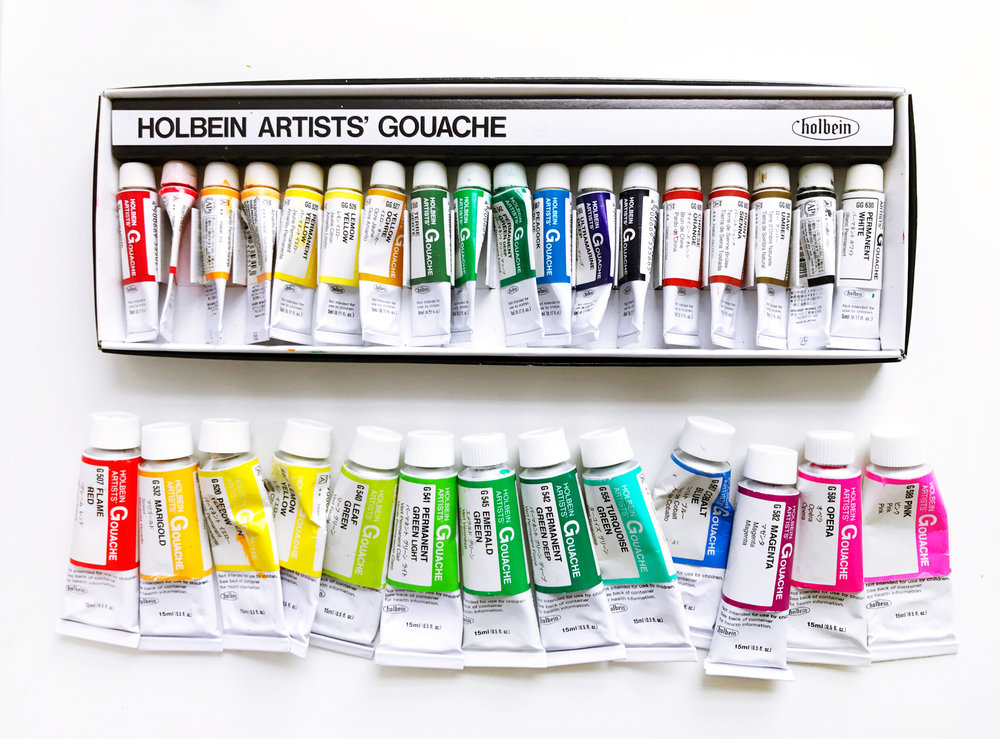 holbein gouache, my favourite materials by andsmilestudio