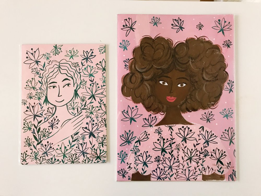 These originals are for sale at  Studio 73  Gallery in Brixton.
