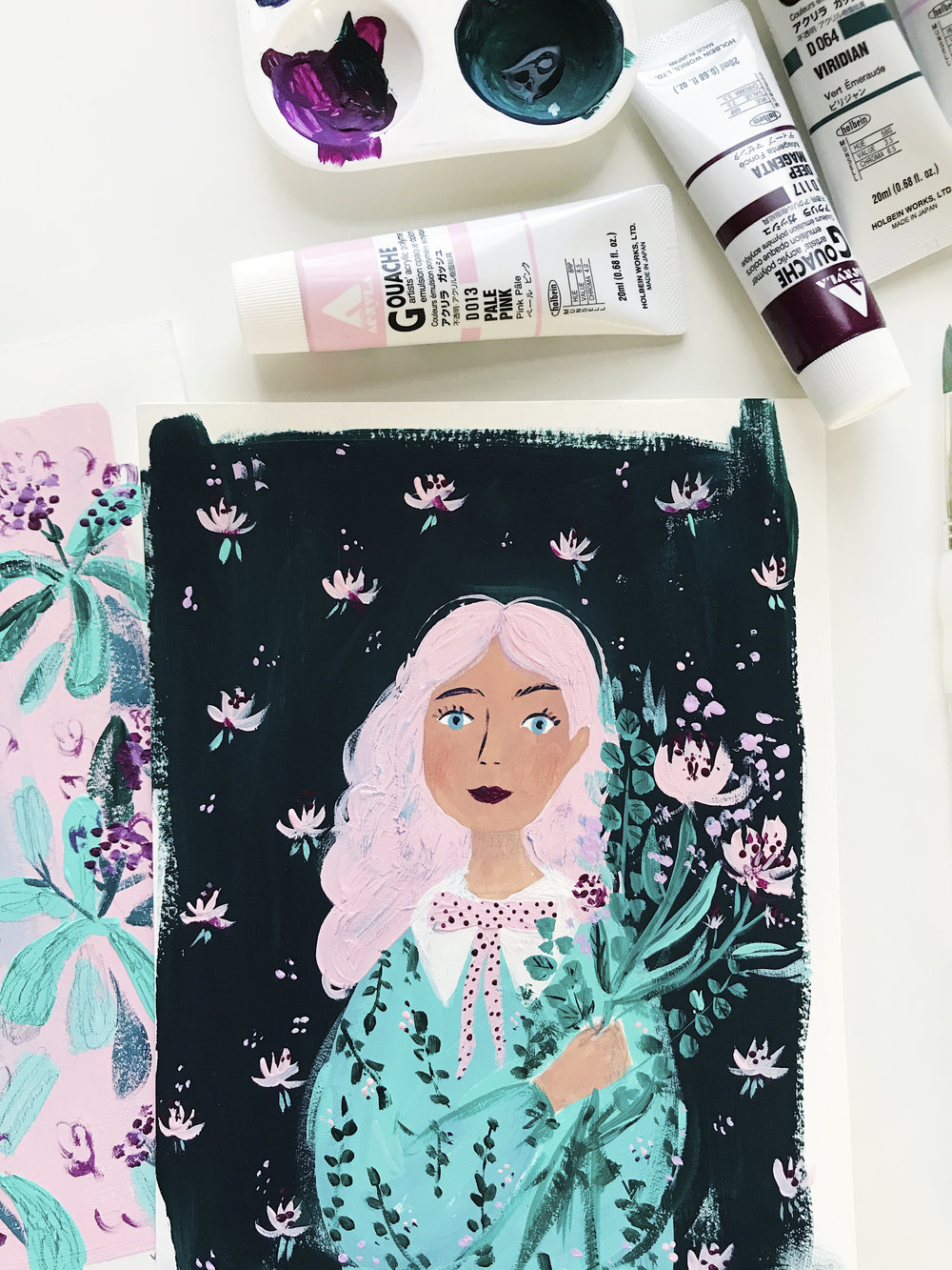 gouache illustration by andsmilestudio viktorija