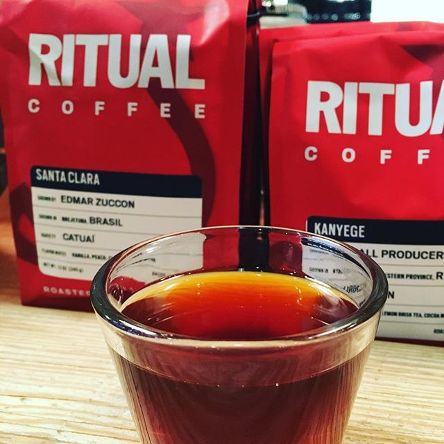 We're back open downtown #seattle with a brand new water heater serving some great #pourover 's with @ritualcoffee come down and try the Brasil Santa Clara it's amazing.