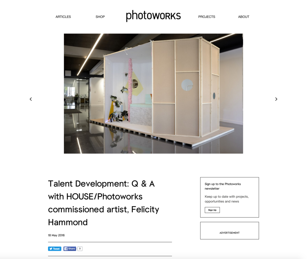 Interview with Photoworks on talent development: https://photoworks.org.uk/talent-development-q-housephotoworks-commissioned-artist-felicity-hammond/