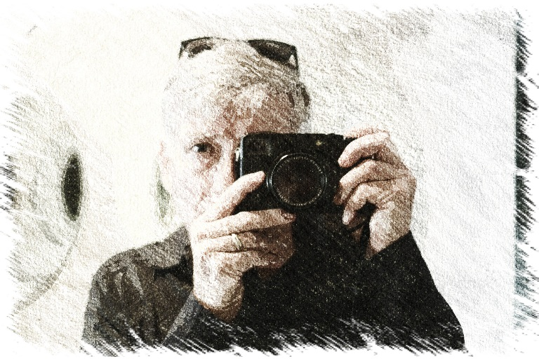 Paul Cooper, 2012 A selfie with my first decent camera - the very sweet Fujifilm XPRO-1