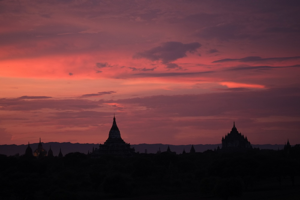 Myanmar sunset X-PRO1 60mm F2.4 ISO 400 1/110Sec at -1 exposure