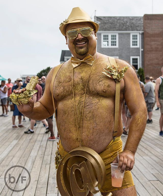#TBT Solid Gold #teadance 🌟🏆🌟 at Bear Week in 2016. Who's going to be there in July? . . . . #bearflavoured #bearweek #gaybear #ptown2016 #ptownbearweek2016 #ptown #bearweek365 #gaybears #picsbybears #provincetownbears #daddybear #beard #beardporn #teadance #capecod #musclebear #goldbear #throwbackthursday #throwback