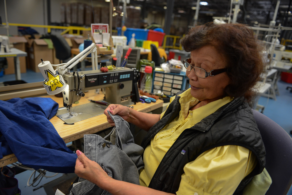 Patagonia employs over fifty veteren sewers in Reno, Nevada to repair garments for warranty and resale.