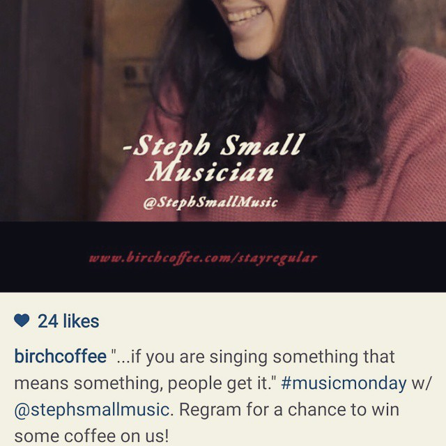 A regram to inspire regramming! Follow @birchcoffee & regram the still from my #stayregular interview for a chance to win some of their delicious coffee #birchlovesyou #iloveyou #somuchlove