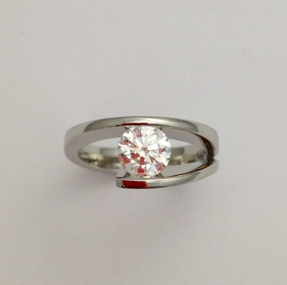 14K white gold with 1.07 carat Canadian Diamond