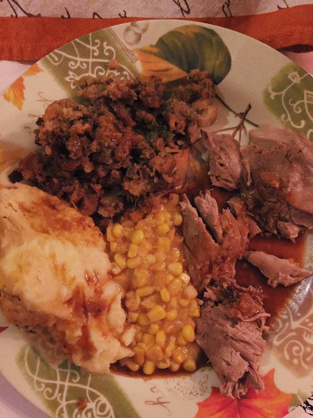 Thanksgiving Dinner. Wishing I had gone back for seconds!