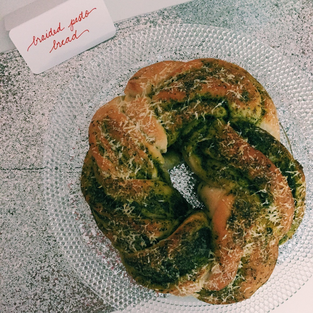 Braided Pesto Bread: wow factor, yum factor